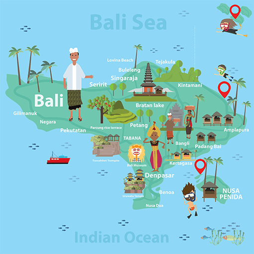 Where to go Diving and Snorkeling in Bali | Bali Map