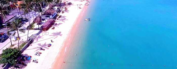 Boput Beach at Fishermans Village on Koh Samui, Thailand