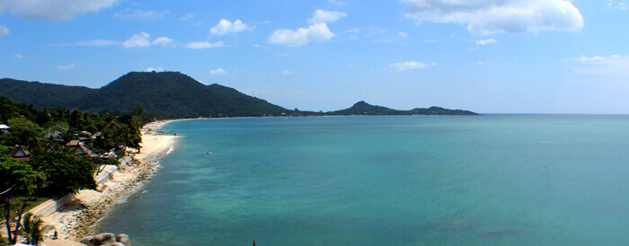 Lamai Beach in Koh Samui Thailand