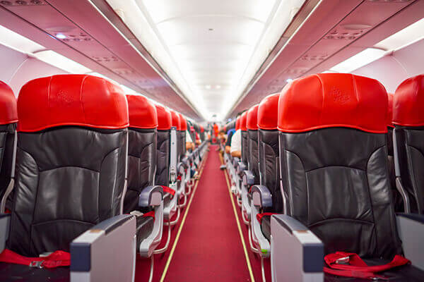 Interior of New plane on AirAsia Planes