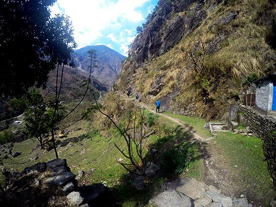 Trekking from BuleBule to Jagat