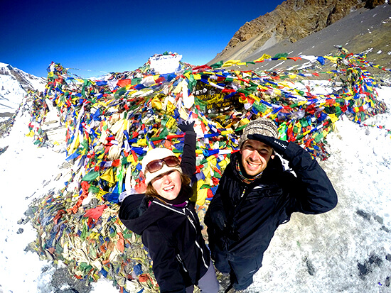 Annapurna Circuit Summit with Laptop Warriors Nadine Shemilt and Fraser Paterson