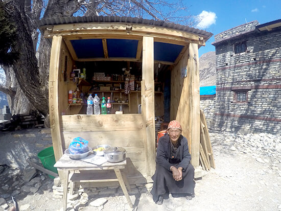 Yak Cheese Vendor Stall at Annapurna Mountain Range Viewpoint
