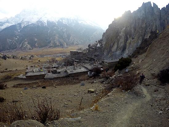 Abandoned village of Braga on the Annapurna Circuit