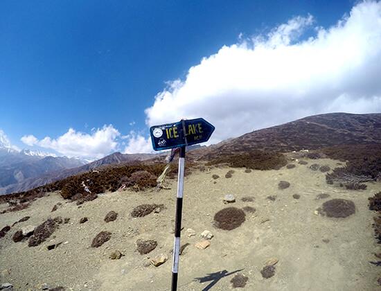 Ice Lake Trekking Trail in Manang District