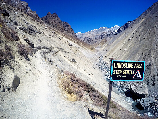 Landslide Area of Annapurna Conservation Area