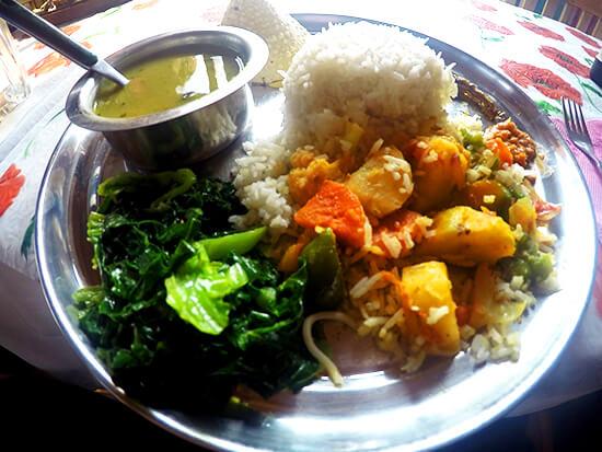 Dal Baht food on the Annapurna Circuit