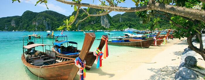 Longtail Boats on beautiful Koh Phi Phi Island