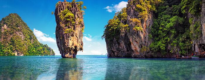 Ao Phang-nga National Park close to Phuket, Thailand