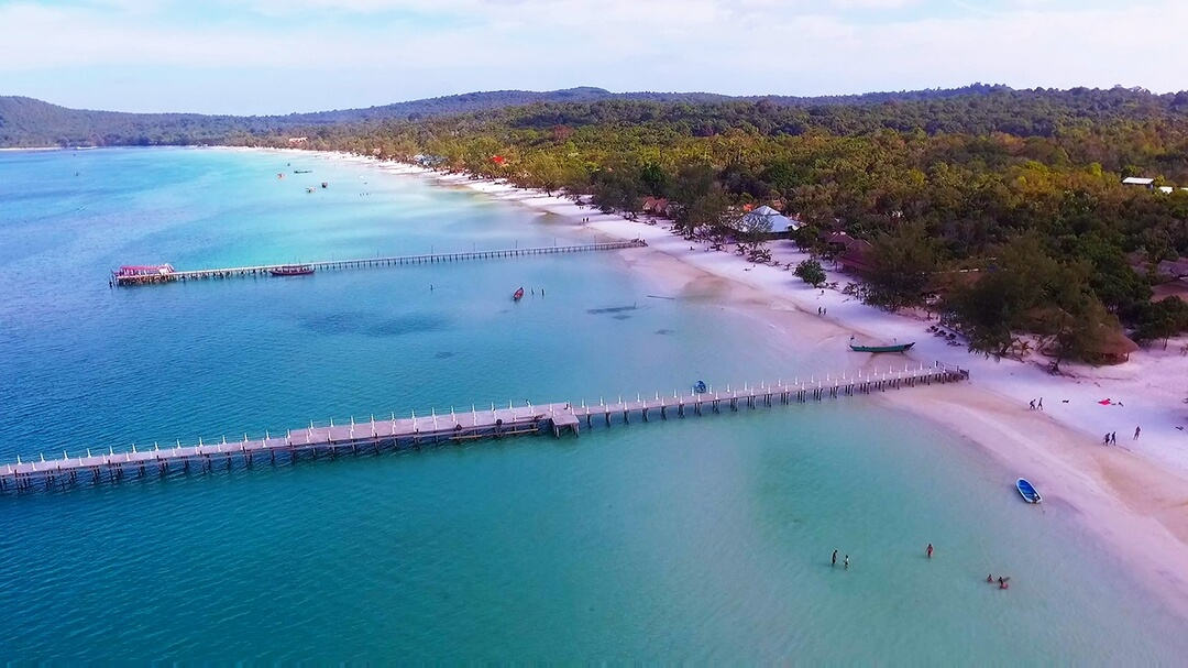 Saracen Beach on Koh Rong Samloem by Drone Photography