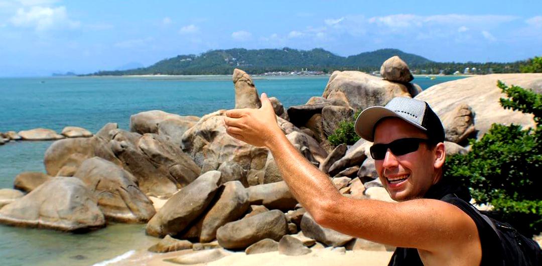 Hin Ta and Hin Yai Rocks in Lamai, Koh Samui