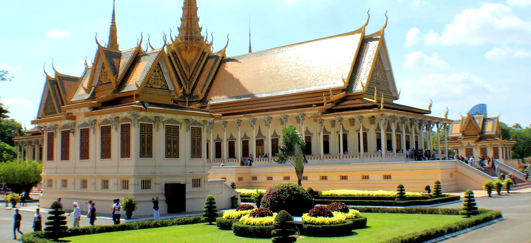 Grand Palace of Cambodia in Phnom Penh