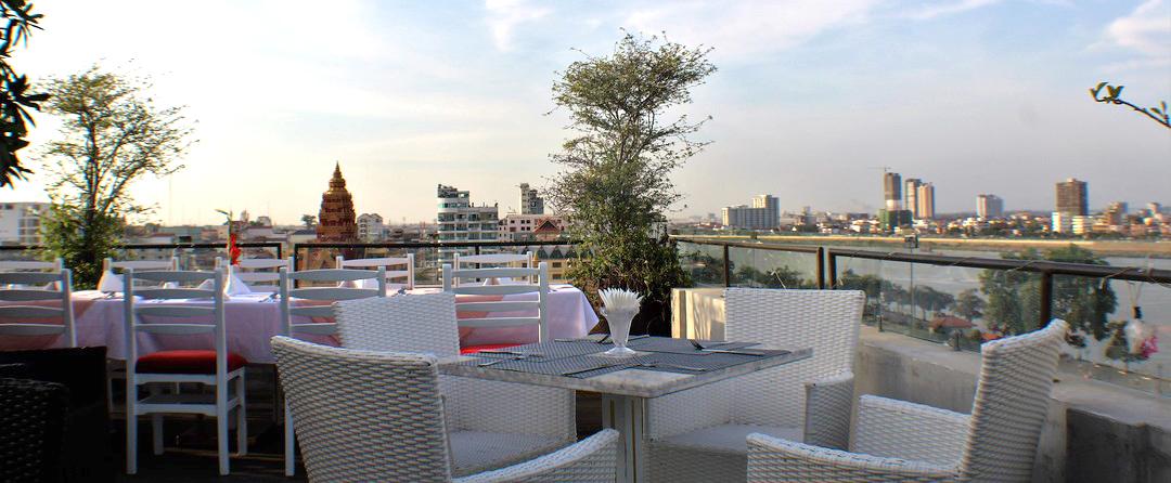 Frangipani Rooftop Hotel Deck in Phnom Penh