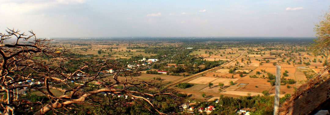 View overlooking Battambang Countryside from Mountain Top