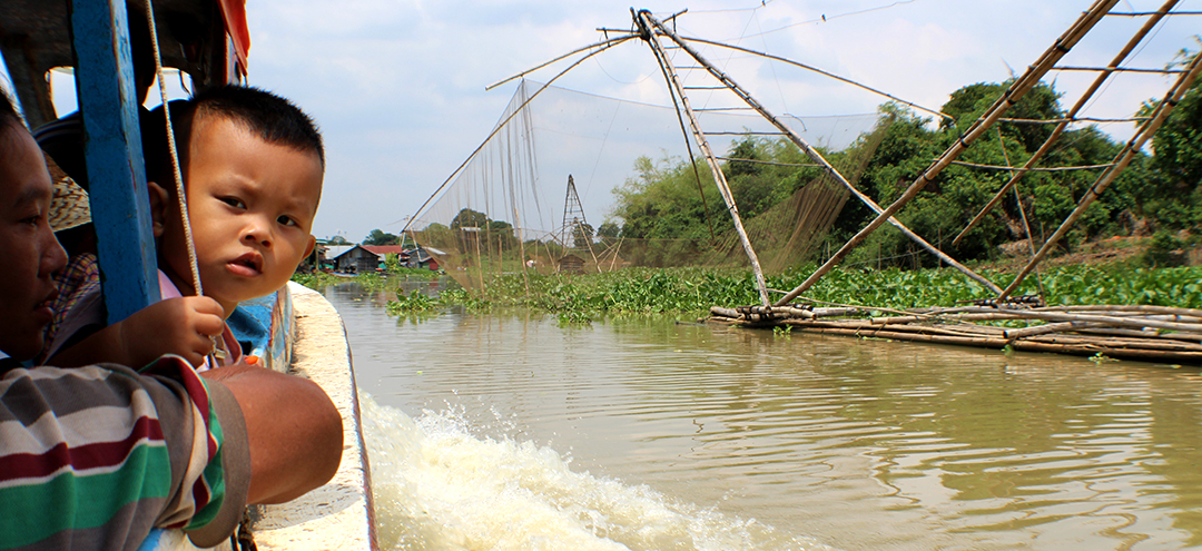 River Fishing in Floating Villages Cambodia