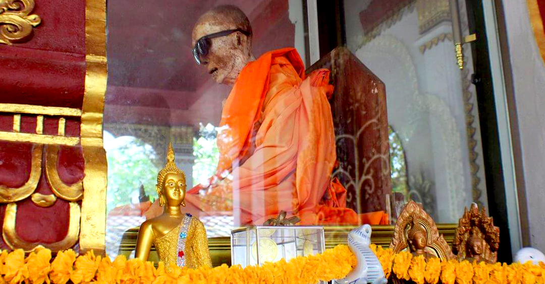 Mummy Monk in Koh Samui at Wat Khunaram