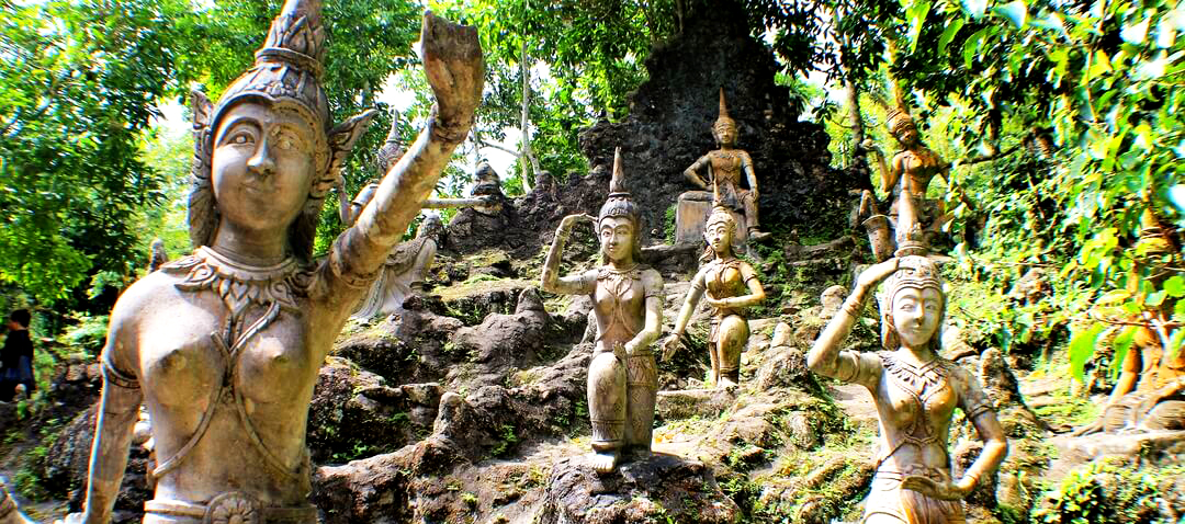 Secret Buddha Garden on the Mountain in Koh Samui