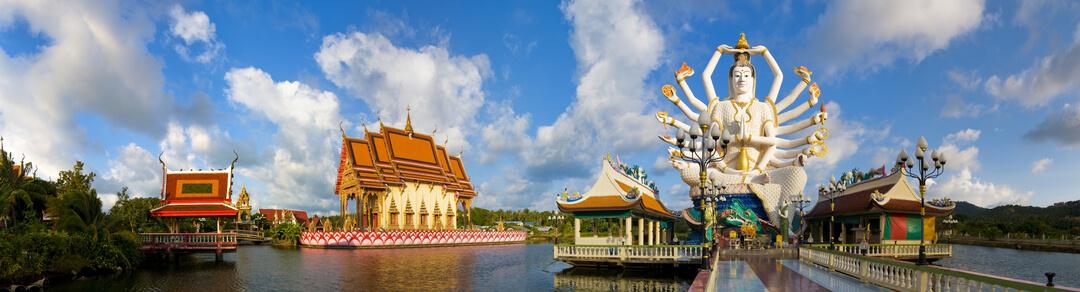 Wat Plai Laem on Koh Samui Island