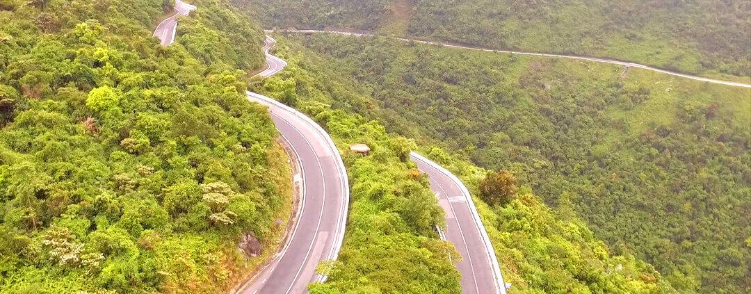 Hue Peninsula on way to Hai Van Pass